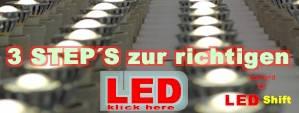 3 step´s zur richtigen LED