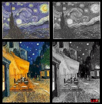 Van Gogh, Teste deine Kraftfarbe, Test your POWER Colors, COLOR TEST, LED COLORS