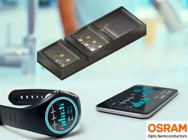 LED-Sensor f�r Herzfrequenz und Blutsauerstoffmessung